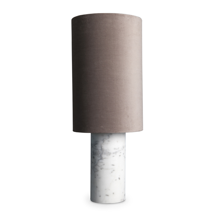 Statement Lamp, white/mushroom